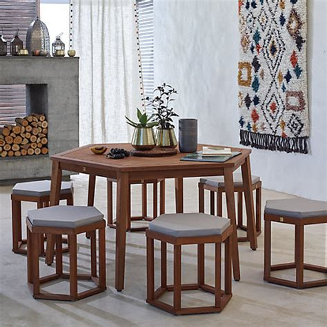 hexagonal dining table and chairs buy lewis venice 6 seater hexagonal dining table