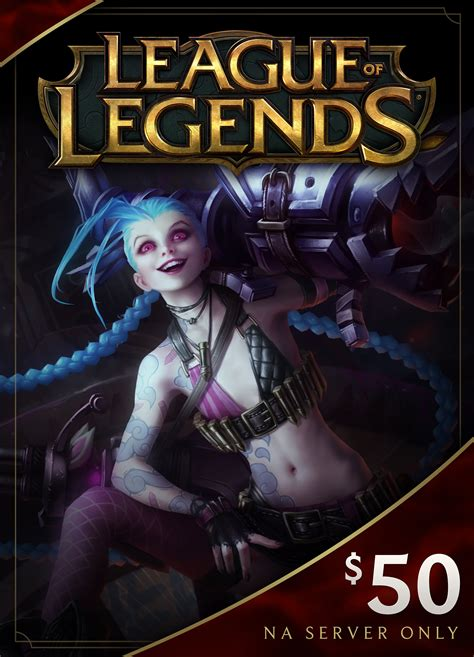 league of legends 50 gift card 7200 riot points na server only online game - League Gift Cards