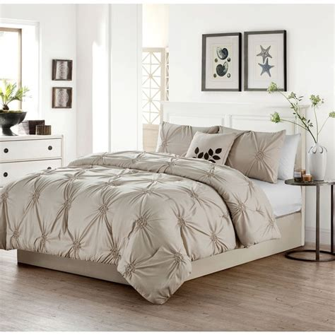 pinched pleat comforter vcny london pinched pleat 4 piece comforter set free