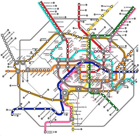 metro washington dc map lines what metro could be in 2100 if our priorities were
