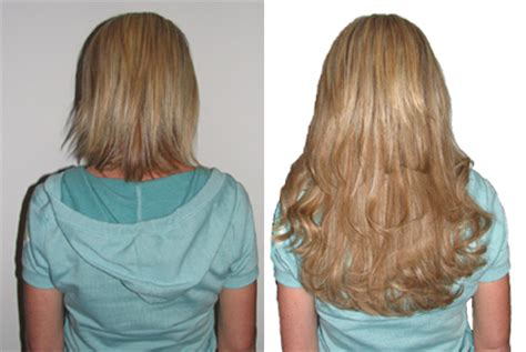 hair extensions for short hair before after hair extensions before and after