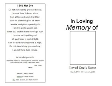 73 Best Images About Printable Funeral Program Templates On Pinterest Program Template Memorial Paper Template