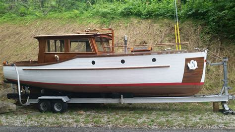 cruiser motor stephens brothers boat builders raised deck motor cruiser