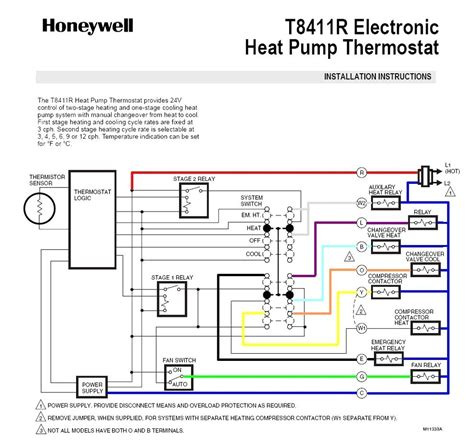 trane heat pump thermostat wiring diagram gallery