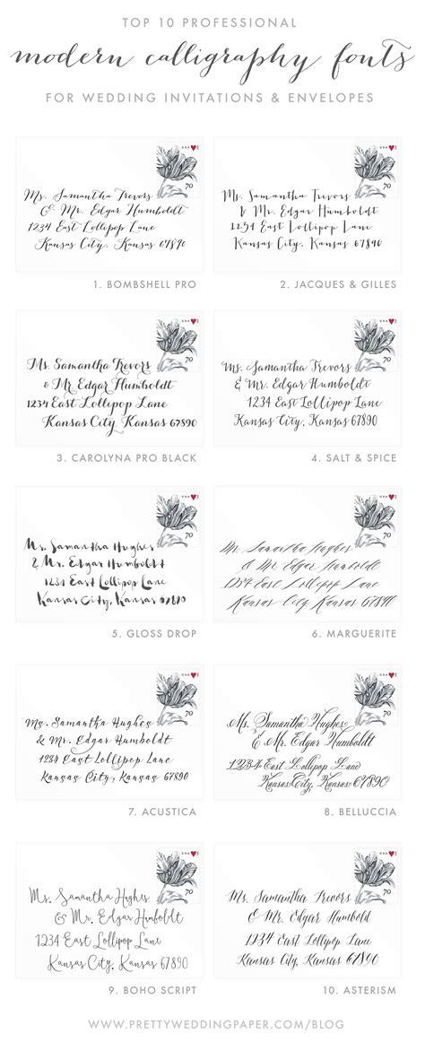Best Font For Wedding Invitation Envelopes