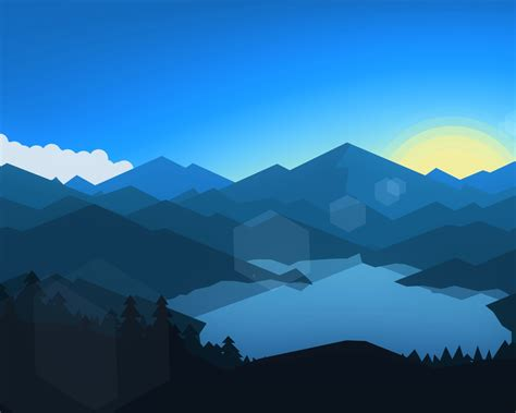 minimalist mountains forest mountains sunset cool weather minimalism hd 8k