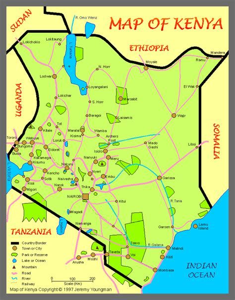 map of kenya map of kenya