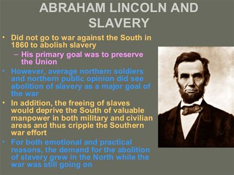 did abraham lincoln want to free the slaves reconstruction
