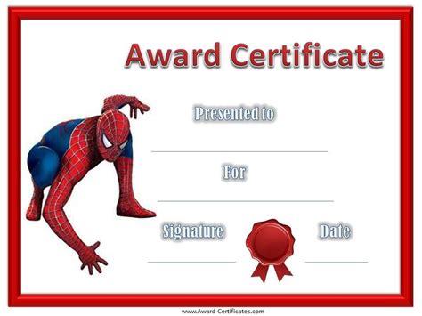 free kids certificate templates free printable award certificate