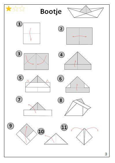 bootje in papier vouwen bootje origami vouwen jouwweb be vouwen pinterest