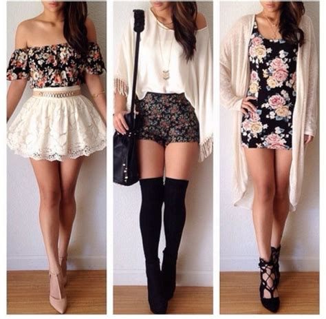 shorts floral high waisted shorts lace white