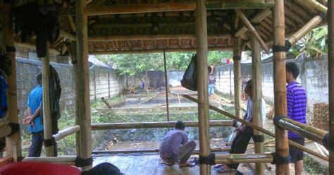 jasa pembuatan rumah bambu foto rumah bambu model rumah bambu gambar rumah bilik bambu hunian nyaman alami bersifat seni