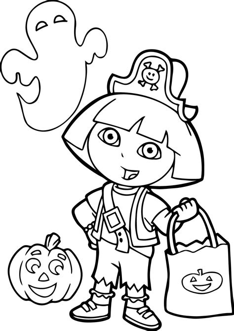 halloween coloring pages dora printable halloween coloring pages dora printable best