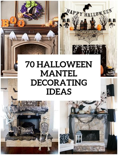 decorating for ideas 70 great halloween mantel decorating ideas digsdigs