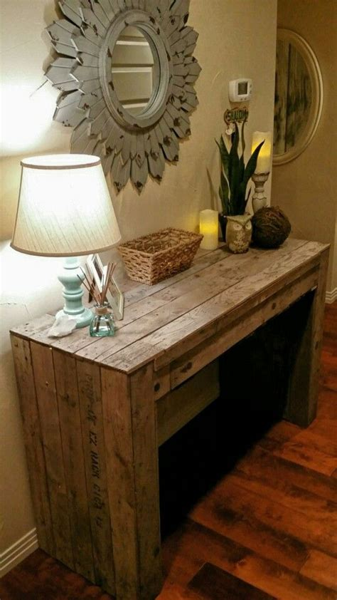 pallet entry table diy pallet  entry tables  pinterest