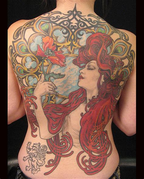 alphonse mucha tattoo tattooz designs nouveau tattoos for