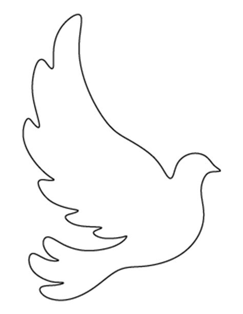 Free Printable Patterns Dove Template To Print