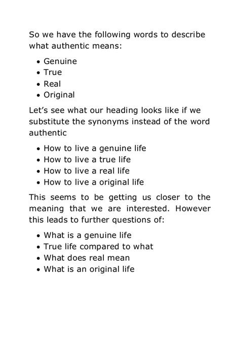 authentic biography meaning living an authentic life