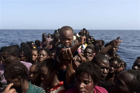 Anger In Spain At Migrant Models by West Migrants Sold In Libyan Markets