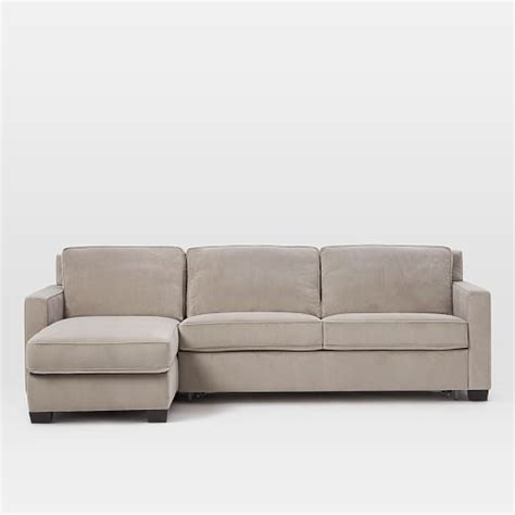 storage sectional henry 174 2 piece pull down sleeper sectional w storage