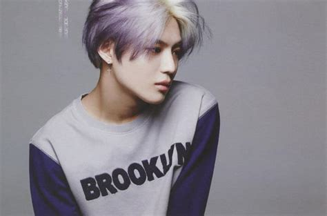 lee taemin images hq purple hair taemin 태민 oh boy 5月号