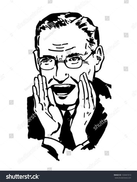 50s cartoons illustrations vector stock images 8946 man shouting retro clipart illustration stock vector