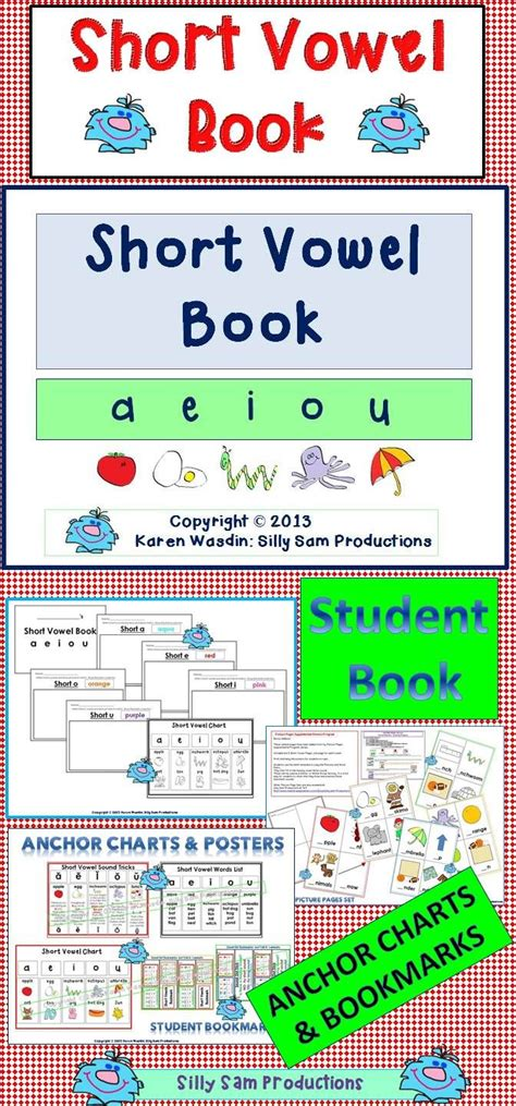 printable vowels poster short vowel book differentiated lesson and printables