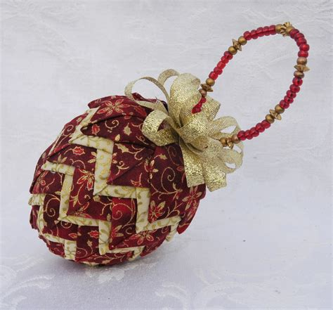 Quilted Ornament by Prairie Creations Ornaments How To Add A Beaded Hanger