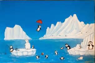 Dessin De Pingouins Sur La Banquise L L L L L L