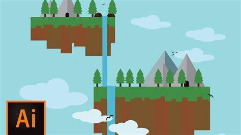 tutorial flat web design adobe illustrator tutorial make floating island