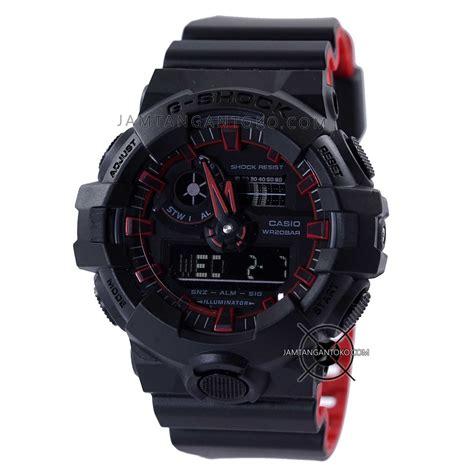 G Shock Gwp1000 Hitam Merah jam g shock ga700se 1a4 hitam merah original bm toko jam