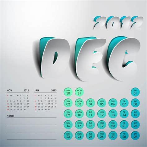 calendar design eps 2012 calendar design vector