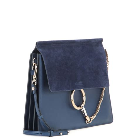 J H Cloe Tote Bag chlo 233 leather and suede shoulder bag in blue lyst