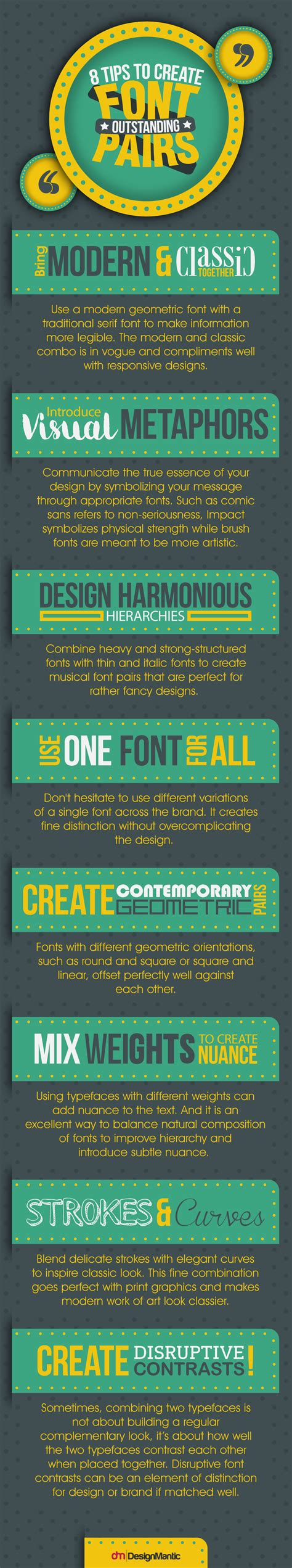 8 Tips On How To by 8 Cool Tips On How To Create Outstanding Font Pairs