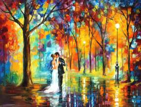 Tardis Wall Mural rainy wedding palette knife oil painting on canvas by