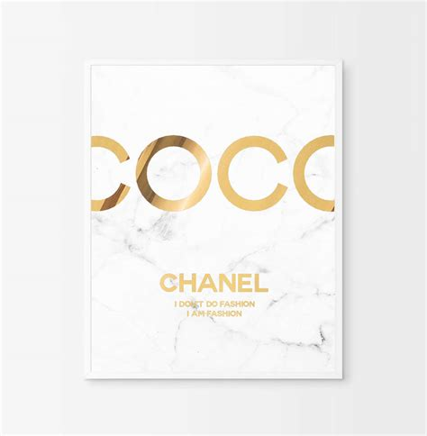 printable typography coco chanel quote gold foil gold lips coco chanel poster real gold foil chanel print coco chanel