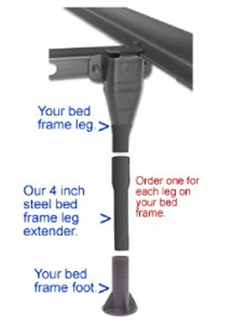 Bed Frame Leg Extenders with 4 Leg Extenders For Bed Frame Free Shipping Ebay