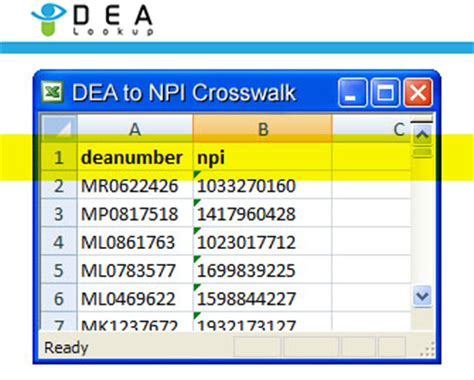 Dea Address Lookup Dea Lookup Dea To Npi Crosswalk