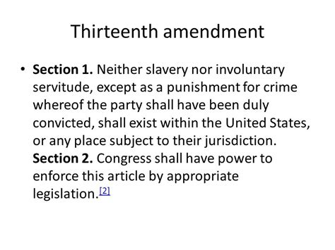 13th amendment section 1 the reconstruction era ppt download