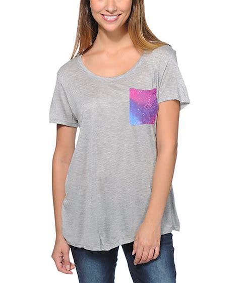 Galaxy Grey T Shirt empyre kessler galaxy pocket grey t shirt