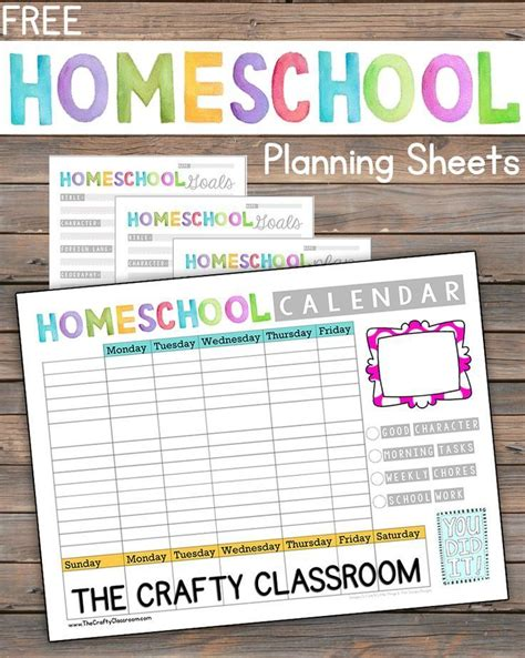 printable planner homeschool free homeschool planning printables homeschool