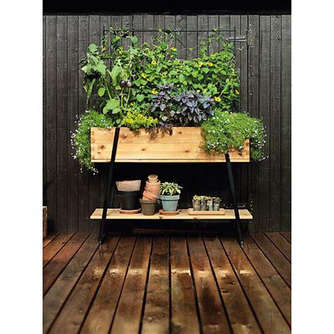 design hochbeet balkon - Kräutertopf Terrasse