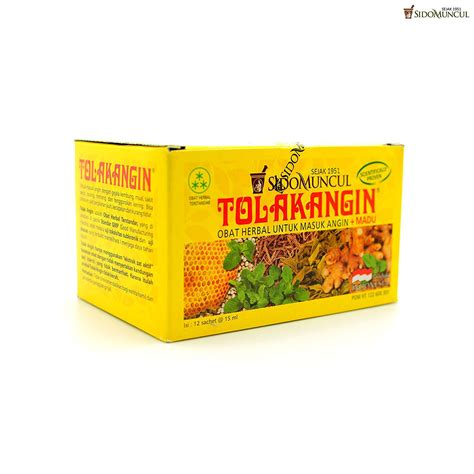 sidomuncul tolak angin box 5s sido muncul tolak angin herbal with honey 12 ct 180 ml 6