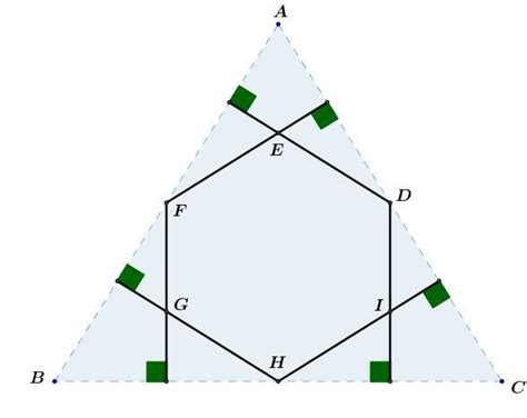 Ask Doctor Math Wholly Whexagons - geometry the area of a hexagon determined by dropping