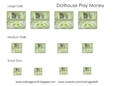 printable board game my froggy stuff dollhouse play money dollhouse diy printables