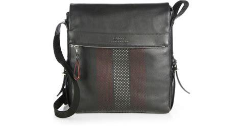 Tas Wanita Gucci Broche bally perforated trainspotting crossbody bag in black for lyst
