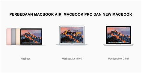 Macbook Air Dan Pro perbedaan spesifikasi macbook macbook air dan macbook pro