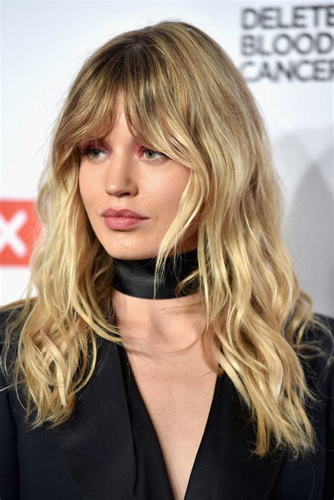 long hairstyles with bangs curly georgia may jagger long wavy cut with bangs long