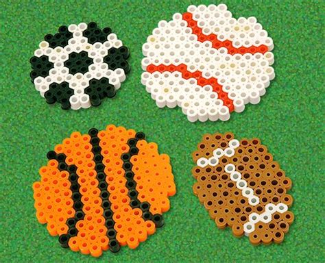 football perler circles soccer and baby mobiles on