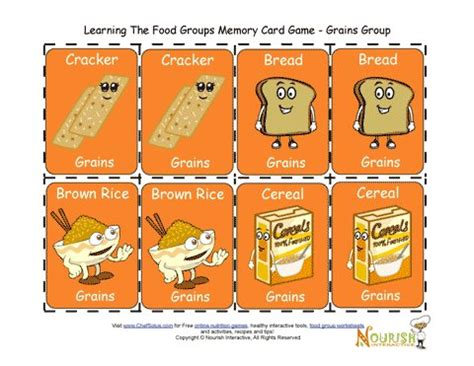 printable matching card games for toddlers kids matching grains card game printable game for children